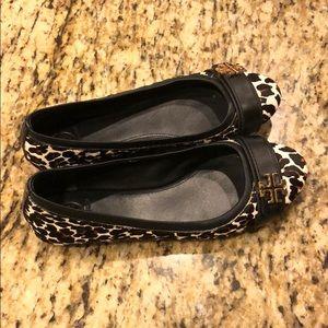 Tory Burch Leopard Ballerina Flats